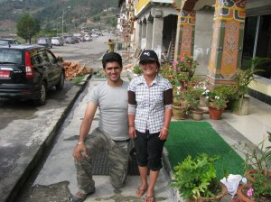 Our helper at Khurthang