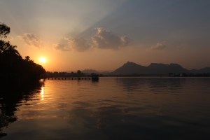 Sunset at Fatehsagar